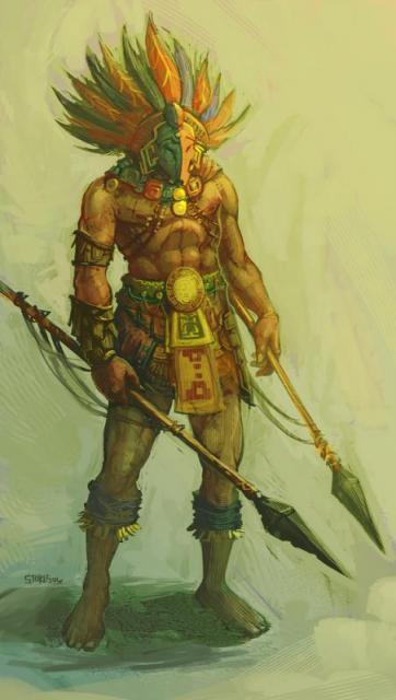 Guerriero azteco